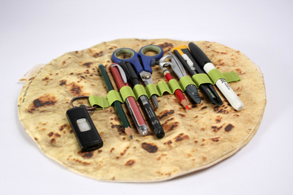 (Non-Edible) Pita Bread Pencil Holder