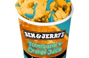 Toothpaste & Orange Juice Ice Cream?