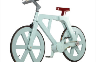 The $9 Recycled Cardboard Bicycle