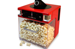 The Popinator Shoots Popcorn Into Your Mouth