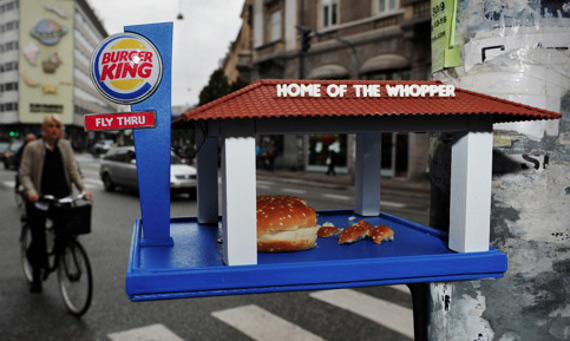 Burger King Fly-Thru Bird Feeder