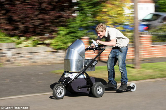 Dad Builds Baby Carriage That Goes 50MPH