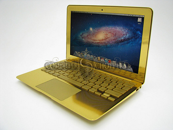 Fancy Technologies: Golden MacBooks