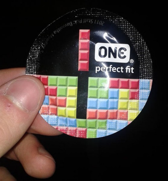 One Brand Condoms With Tetris Packaging