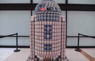 Candroid R2-D2 Canned Food Display