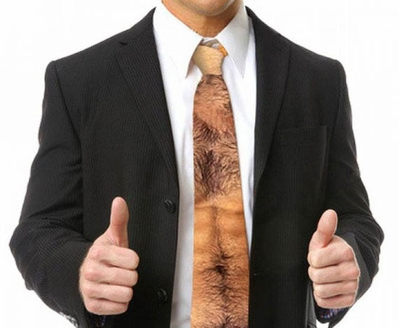 Show Off Your Hairy Torso With This Neck Tie