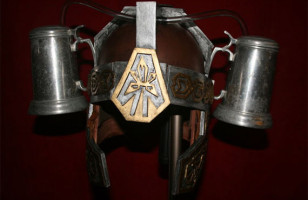 Drinketh Thy Booze Hands Free With The Medieval Beer Helmet