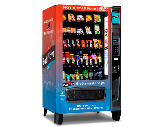 Vending Machine With A Microwave For Hot AND Cold Foods