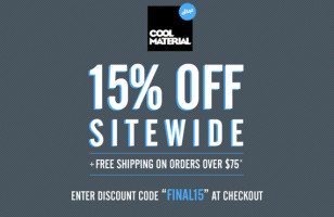 15% Off Shop Cool Material