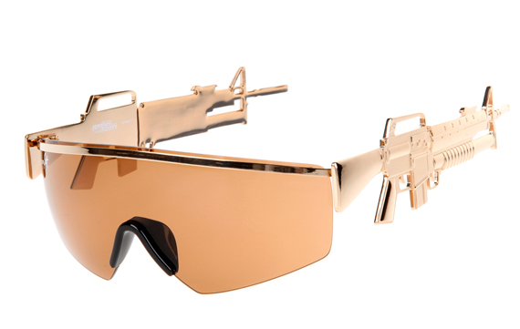 badass sunglasses with assault rifle temples incredible things