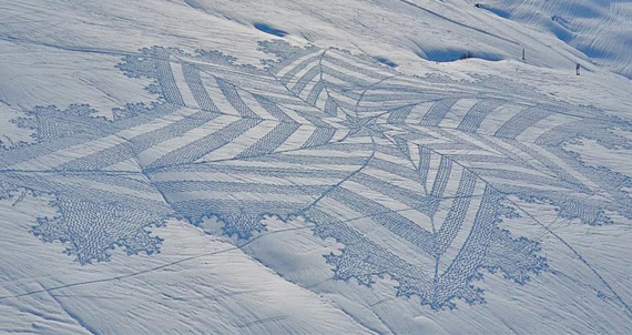 Trampled Snow Art Is The New Crop Circles