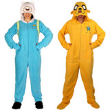 Adventure Time Footie Pajamas For Adults