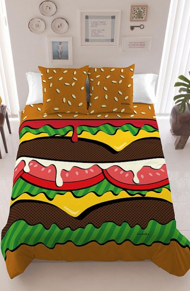 Burger Bedding Makes Midnight Snacking Easy