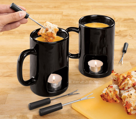 Enjoy Fondue For Two With These Mugs