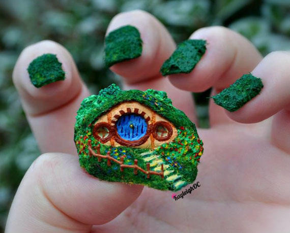 Amazing Hobbit Hole Nail Art More Incredible Things