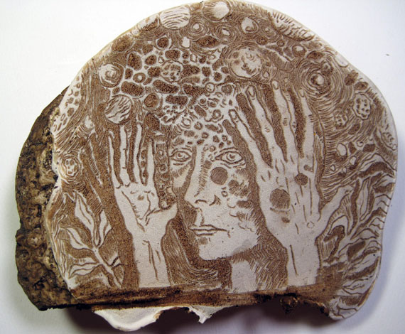 Intricate Illustrations Etched In Mushrooms