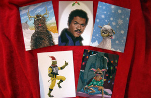 A Star Wars Christmas Card Collection