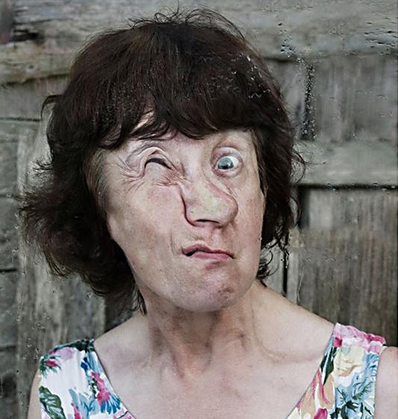 The Ugly Truth: Photographs of Faces Against Glass