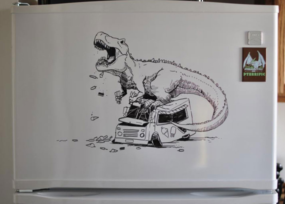 Artist Uses Refrigerator As A Canvas
