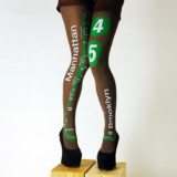New York City Subway Map Printed Tights