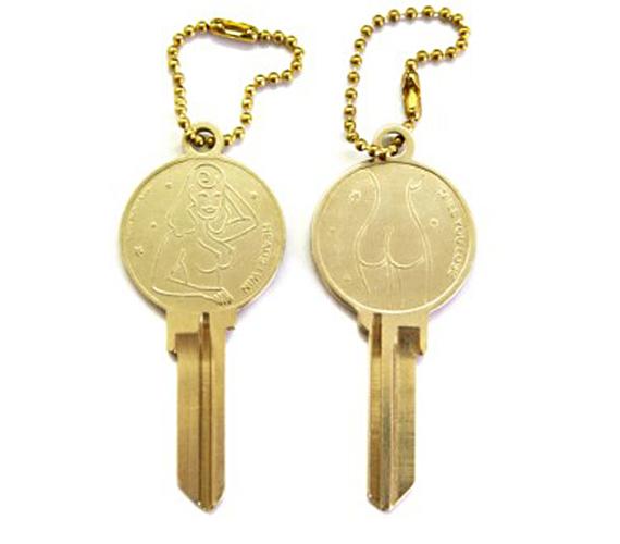 Naked Lady Shaped Keys