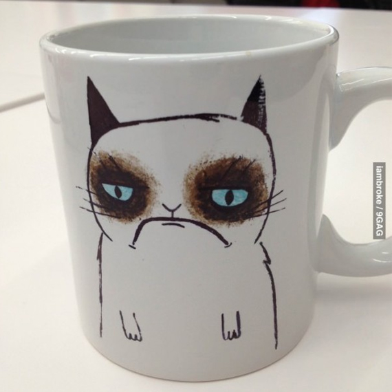 Grumpy Before Coffee? So Is This Cat