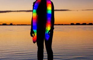 Keep Warm & Bright With This Glowy Scarf