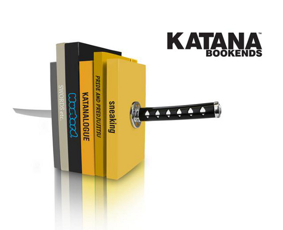 Sounds Dangerous: Katana Bookends