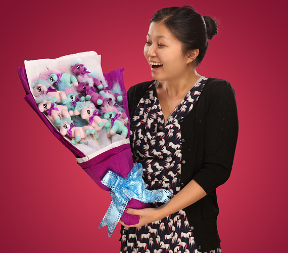Roses Are For Chumps! Get A Plush Unicorn Bouquet Instead