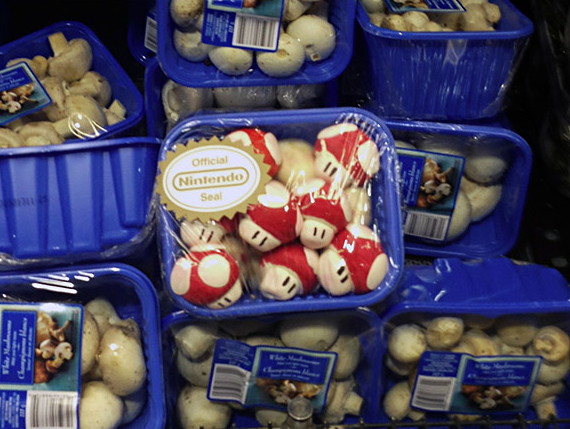 Mario Mushrooms Spotted at Grocery Store