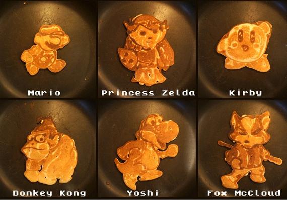 Pancake Dad's Nintendo Pancakes