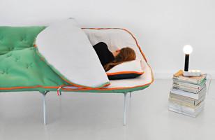 Mega Cozy: The Sleeping Bag Sofa
