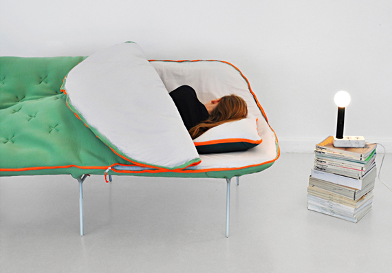 Mega Cozy: The Sleeping Bag Sofa