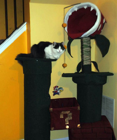 Super Mario Piranha Plant Cat Tree