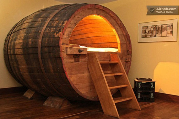 Booze & Sleep In A Beer Barrel
