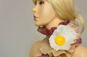 Breaksfast Attire: Bacon & Egg Scarf