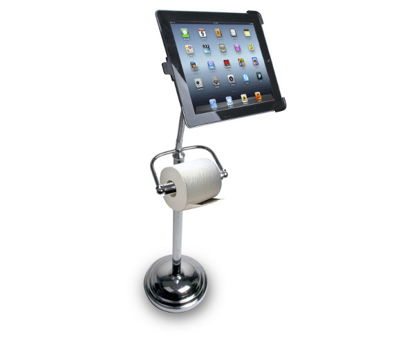 a toilet paper holder ipad stand incredible things. Black Bedroom Furniture Sets. Home Design Ideas