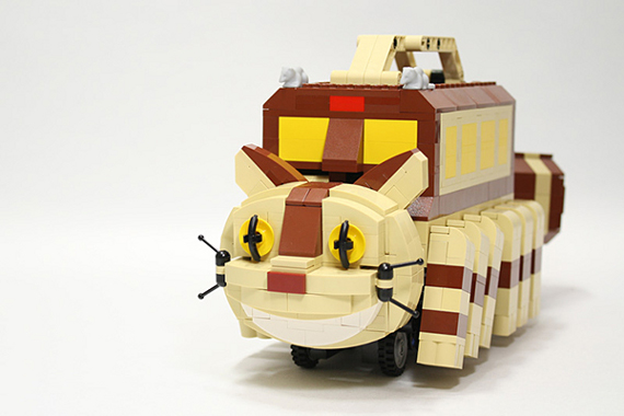 Totoro's Catbus Built From LEGO