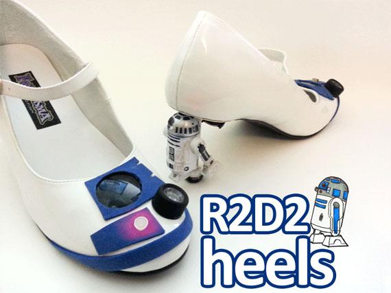 BEEP BOOP: DIY Light-Up R2-D2 Heels