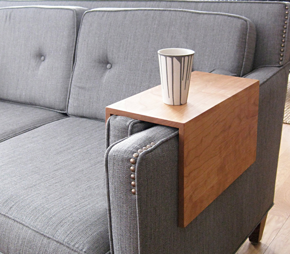 Couch Arm Wrap Is A Cled Up Cup Holder