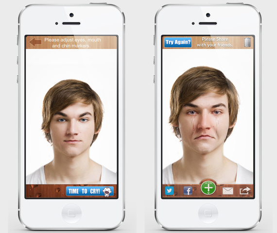 make happy people sad with the cryface app incredible things
