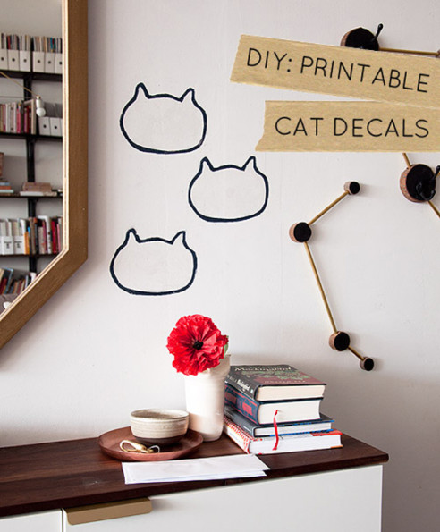 Stunning DIY Kitty Wall Decals Are The Cat us Pajamas