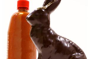 Dark Chocolate Sriracha Bunny