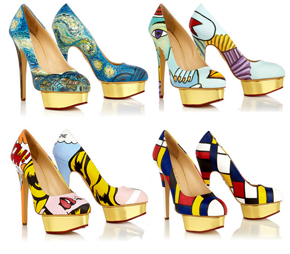 Famous Paintings On High Heel Shoes
