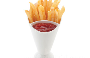 2 Foods, 1 Cup: French Fry Cone & Dip
