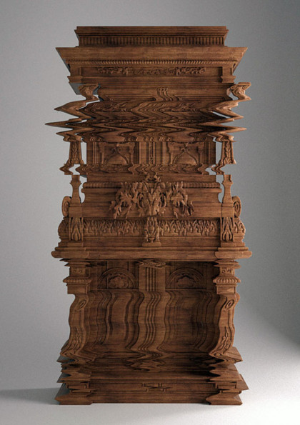 Hand-Carved Furniture Looks Glitchy
