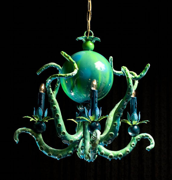 Octopus & Alien Tentacle Chandeliers