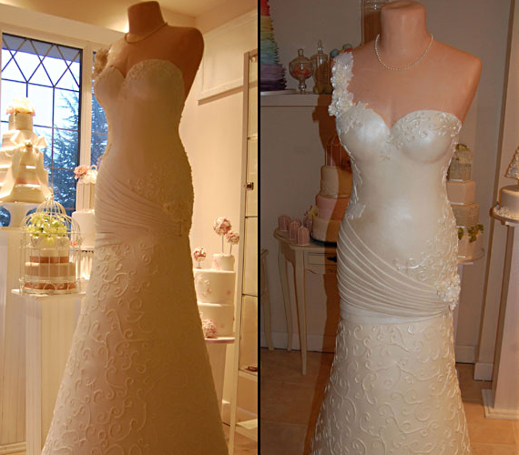 A Wedding Gown Made Of Cake