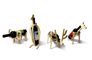 Animal-Shaped Wine Bottle Holders