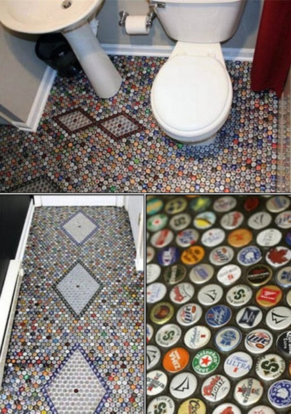 1000 Bottle Caps On The Floor, 1000 Bottle Caps